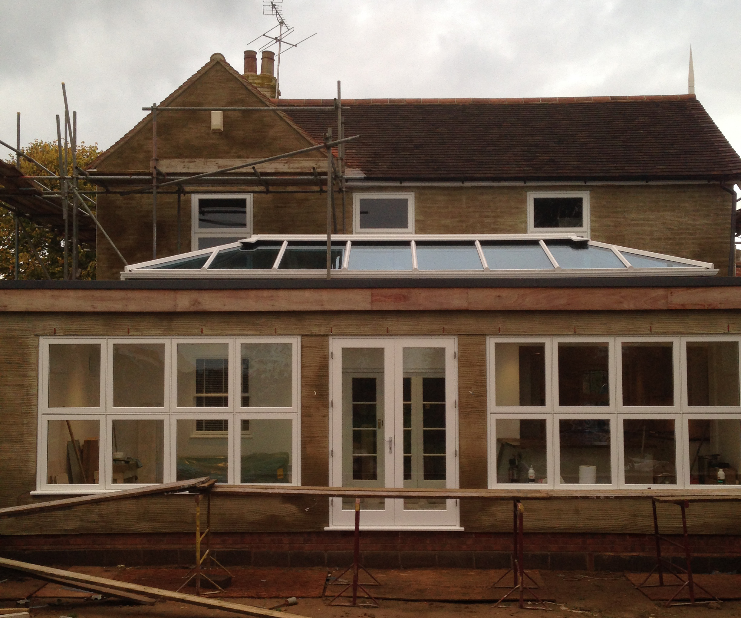 This client wanted to add a permanent extension rather than conservatory to their home